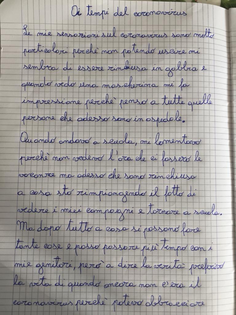 Aurora Scarantino 10 anni (Italia) - Ai tempi del coronavirus pagina 1